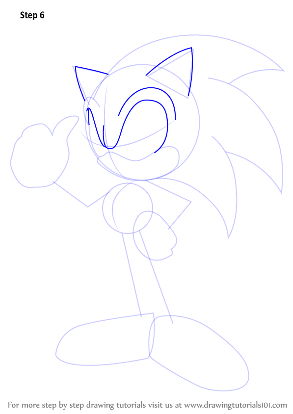 Learn How To Draw Sonic Sonic The Hedgehog Step By Step Drawing