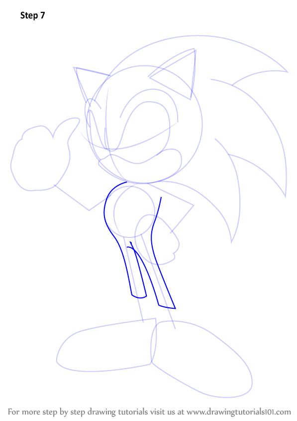 Learn how to draw sonic sonic the hedgehog step by step for Cartoon body tutorial
