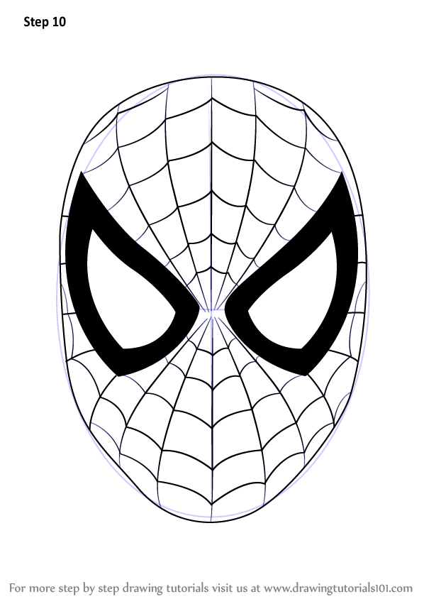 Step by Step How to Draw Spiderman