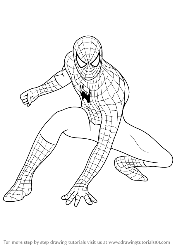 coloring pages spiderman easy drawings - photo#7