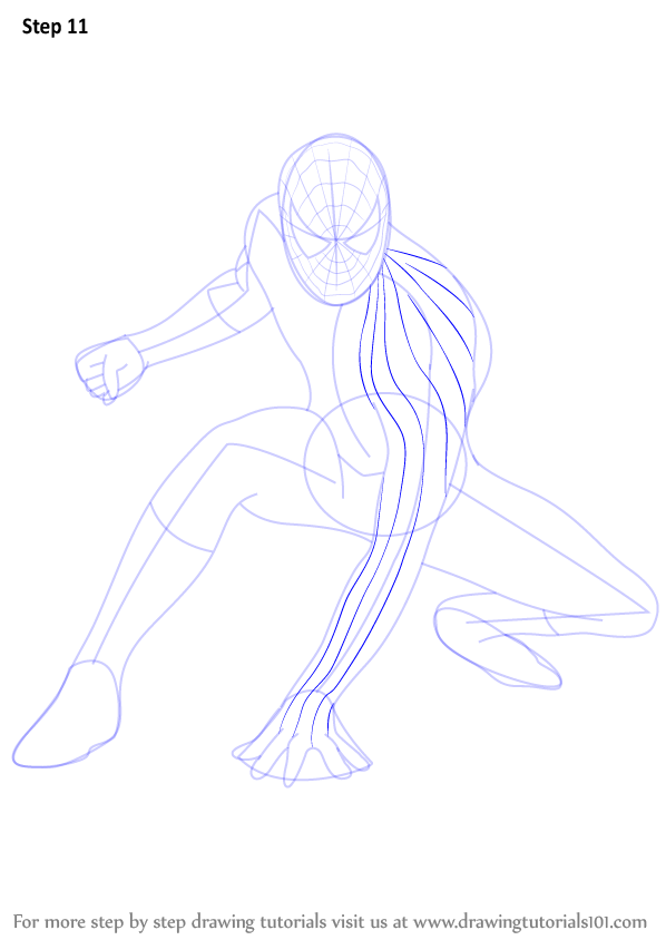 learn how to draw spiderman  spiderman  step by step   drawing tutorials