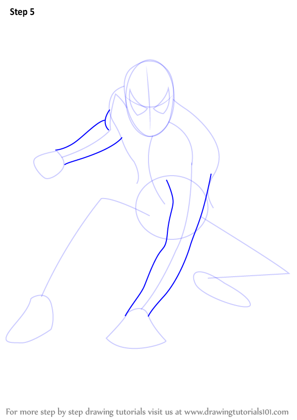 Learn how to draw spiderman spiderman step by step for Learn to draw cartoons step by step lessons