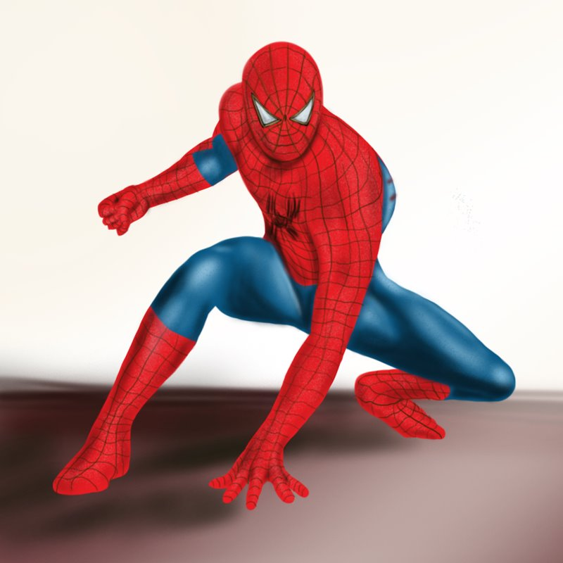 Spiderman Standing Drawing Galleryhipcom The Hippest Galleries