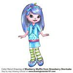How to Draw Blueberry Muffin from Strawberry Shortcake