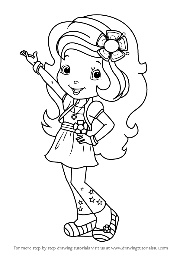 learn how to draw orange blossom from strawberry shortcake