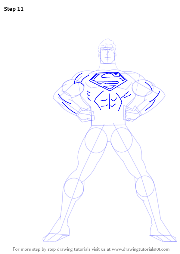 how to draw the superman logo step by step