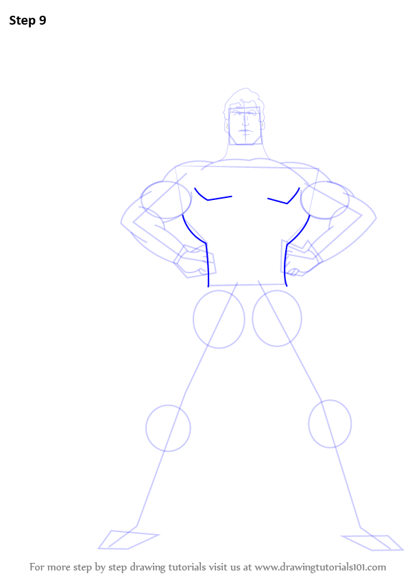 how to draw spiderman step by step full body