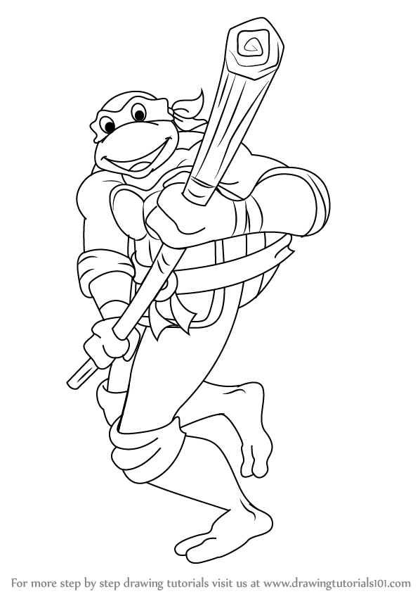 how to draw donatello from teenage mutant ninja turtles
