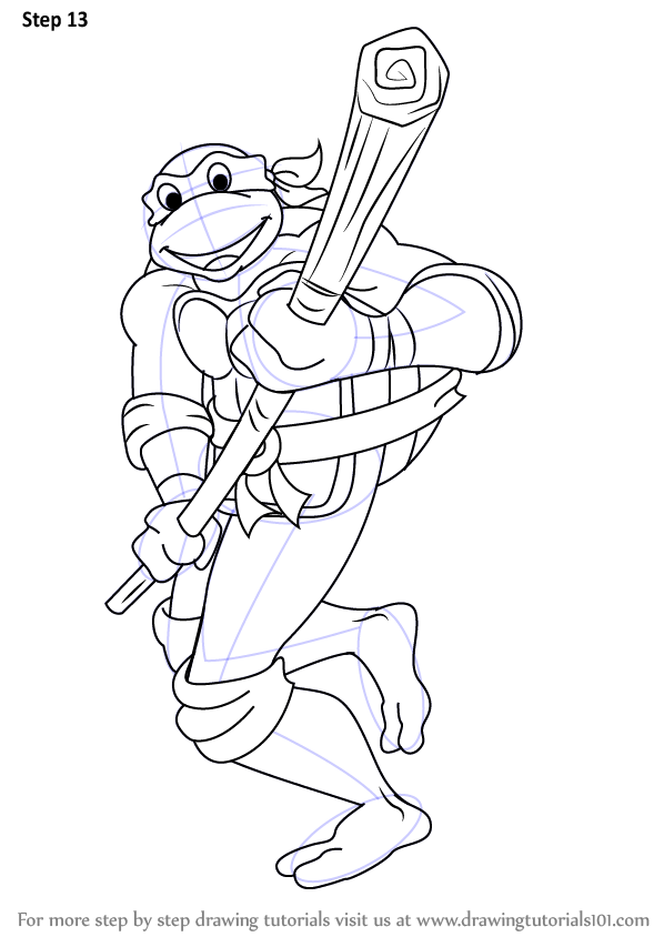 Learn How to Draw Donatello from Teenage Mutant Ninja ...