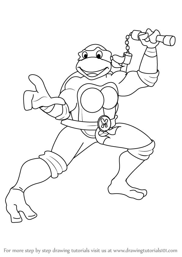 how to draw michelangelo from teenage mutant ninja turtles