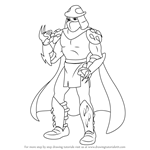 How to Draw Oroku Saki from Teenage Mutant Ninja Turtles