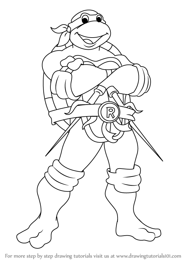 Ninja Turtle Coloring Pages   Kids #7