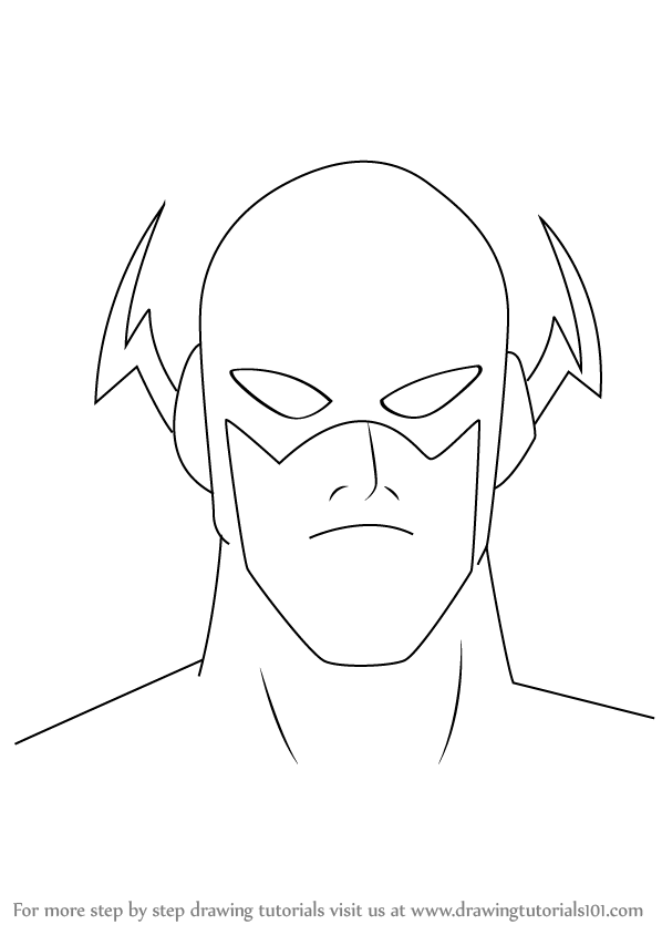 Learn How To Draw The Flash Face (The Flash) Step By Step