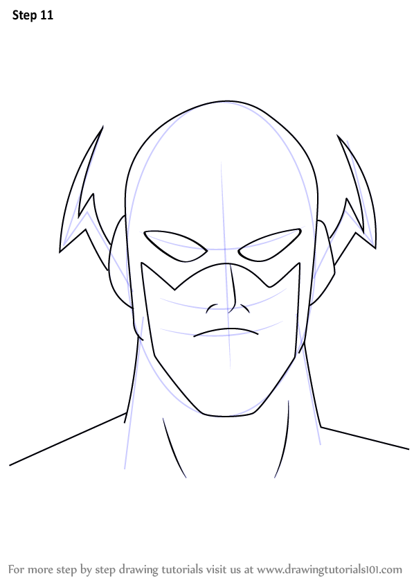 how to draw the reverse flash