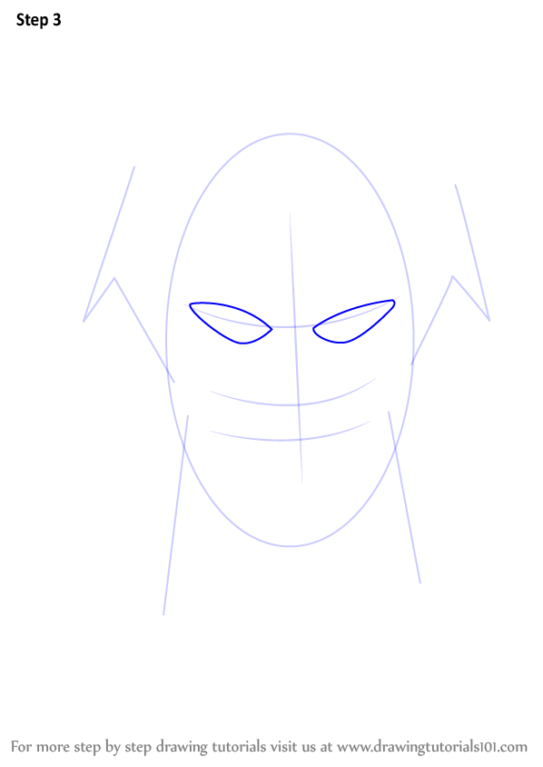 Step by Step Drawing tutorial on How to Draw The Flash Face