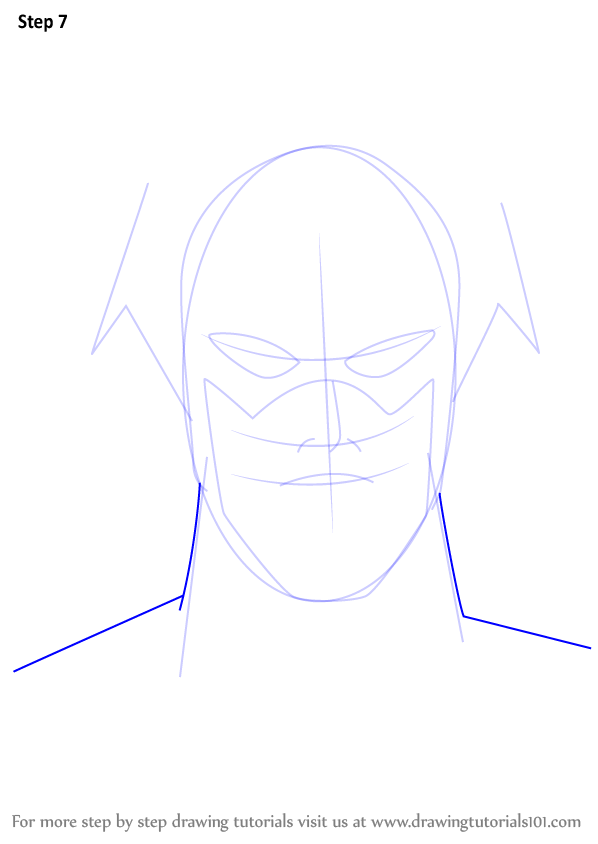 Learn How to Draw The Flash Face (The Flash) Step by Step ...   598 x 844 png 31kB