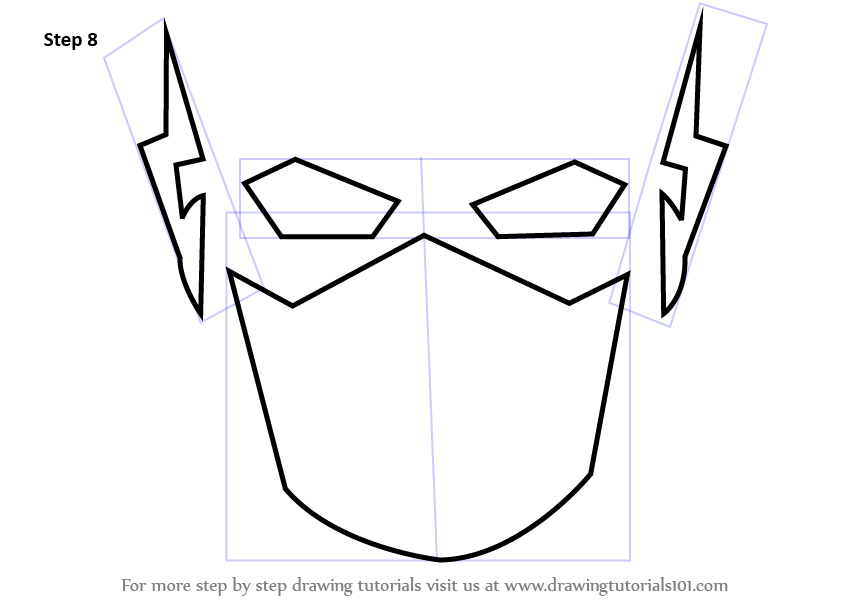 learn how to draw the flash for kids the flash step by step drawing tutorials