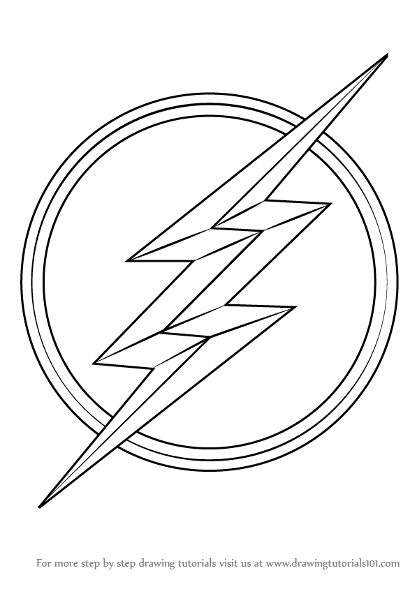 Daredevil Coloring Pages How To Draw Flash Logo Learn The Symbol Sketch Page