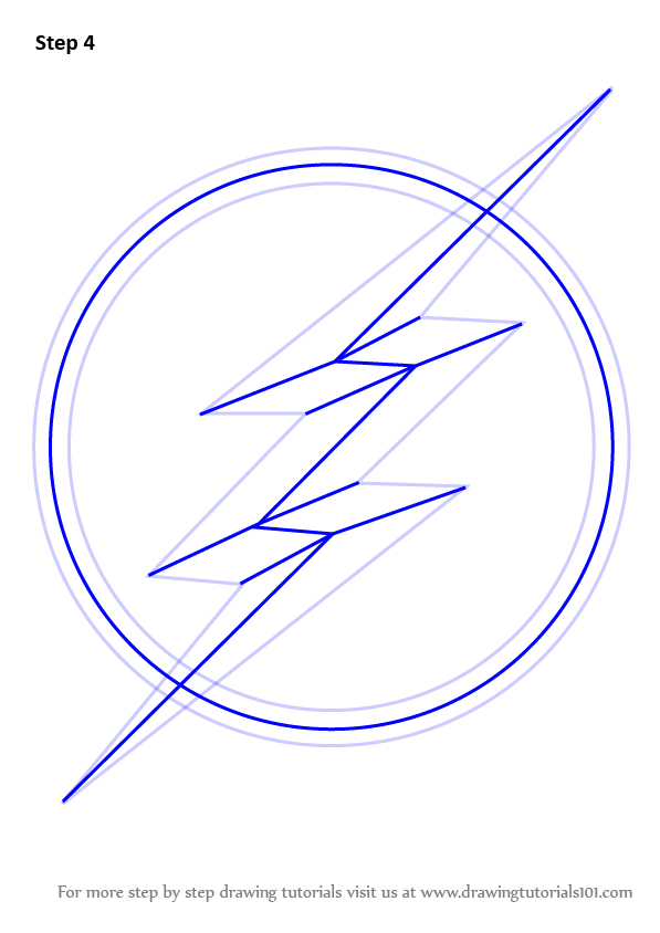 Learn How To Draw The Flash Symbol The Flash Step By