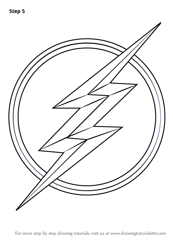 Learn How to Draw The Flash Symbol (The Flash) Step by Step ...