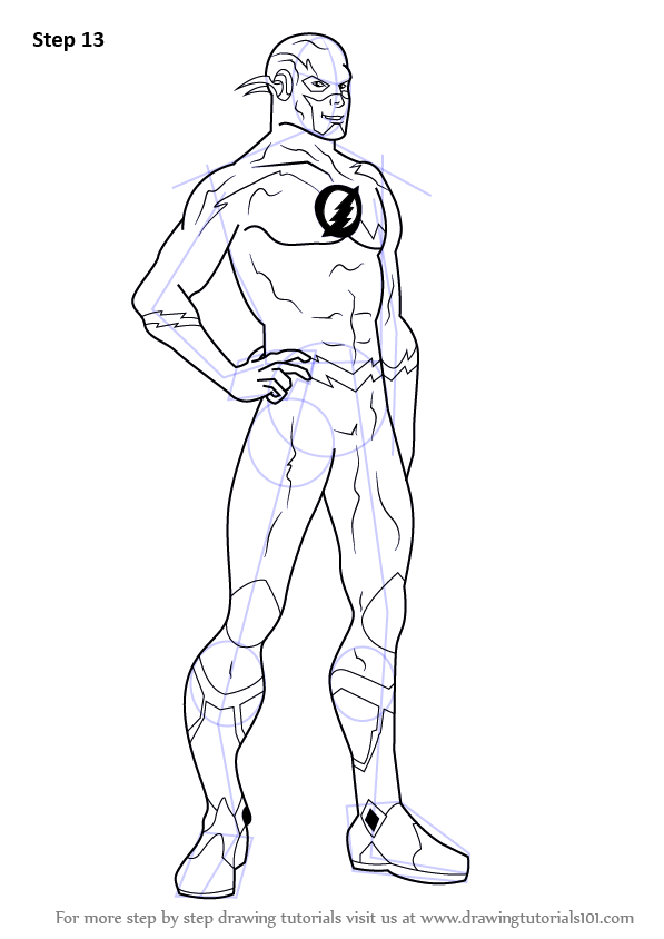 Learn How To Draw The Flash (The Flash) Step By Step