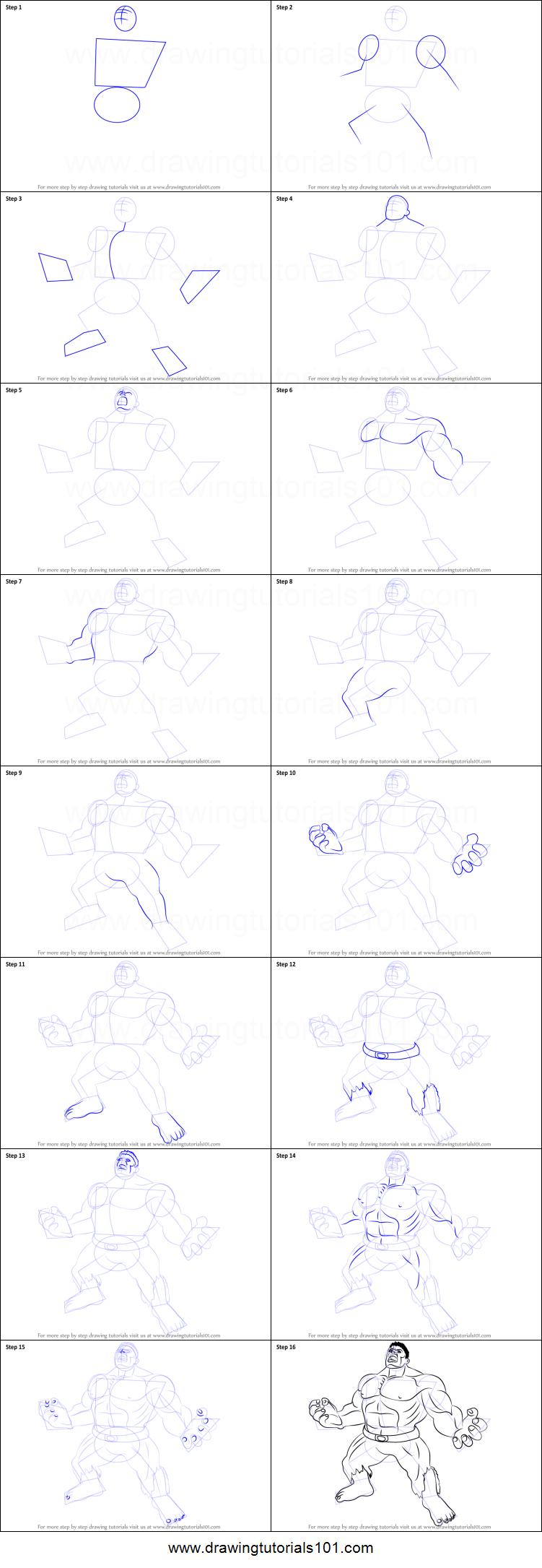 How to Draw Angry Hulk... Easy Superhero Drawing