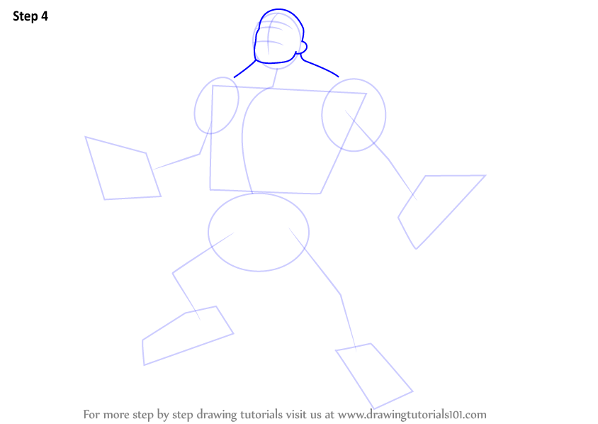 how to draw hulk step by step on paper