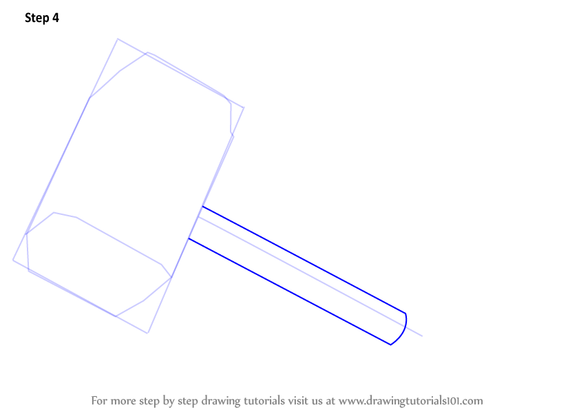 learn how to draw thor s hammer thor step by step drawing tutorials