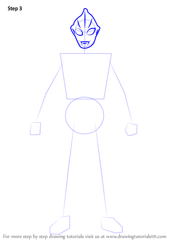 Learn How To Draw Evil Tiga Ultraman Step By Step