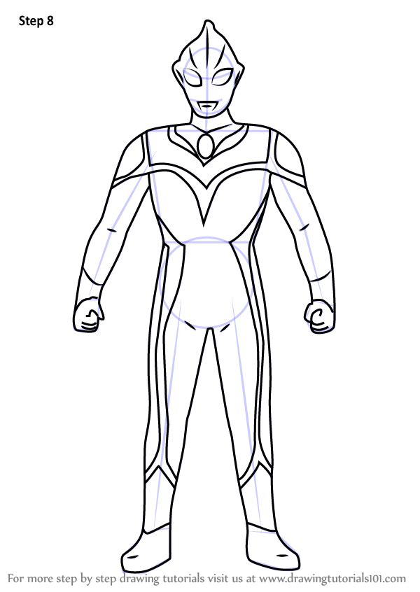 Learn How To Draw Evil Tiga Ultraman Step By Step Drawing Tutorials