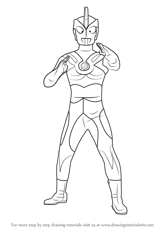 Learn How To Draw Ultraman Ace Ultraman Step By Step Drawing Coloring Pages Ultraman