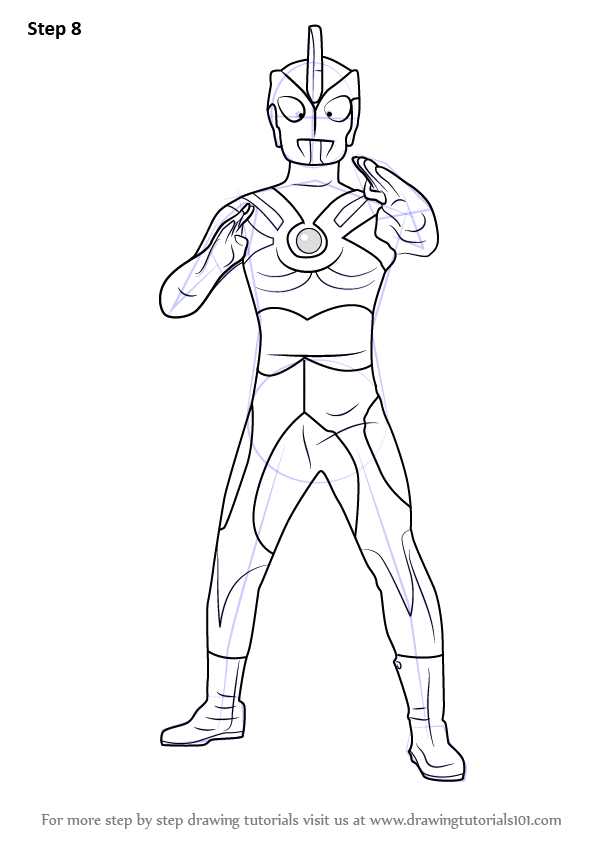 Step By Step How To Draw Ultraman Ace