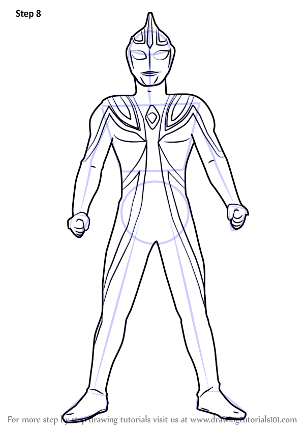 Learn How To Draw Ultraman Agul Ultraman Step By Step