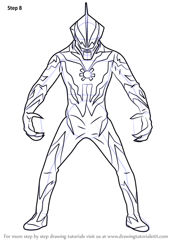 Learn How to Draw Ultraman Belial Ultraman Step by Step