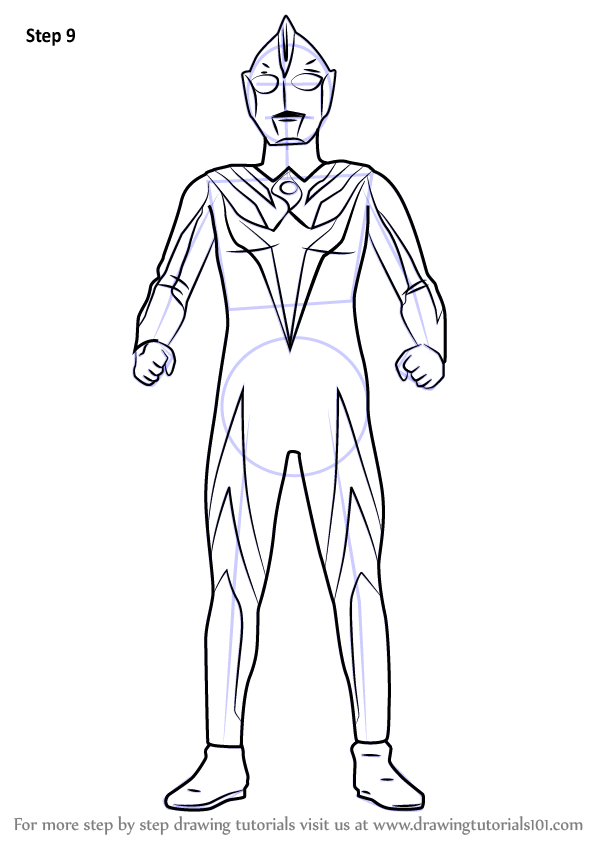 Learn How to Draw Ultraman Cosmos