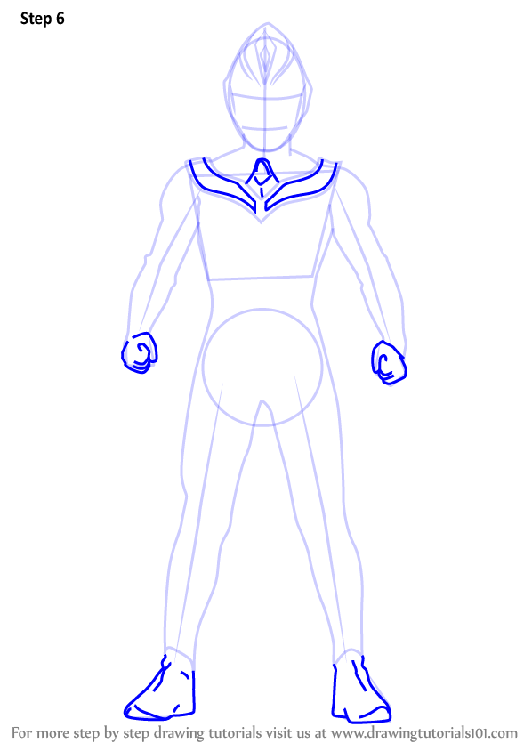 Learn How To Draw Ultraman Dyna Ultraman Step By Step