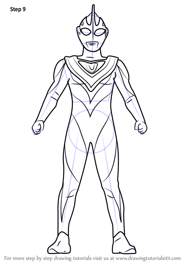Learn How To Draw Ultraman Gaia Ultraman Step By Step