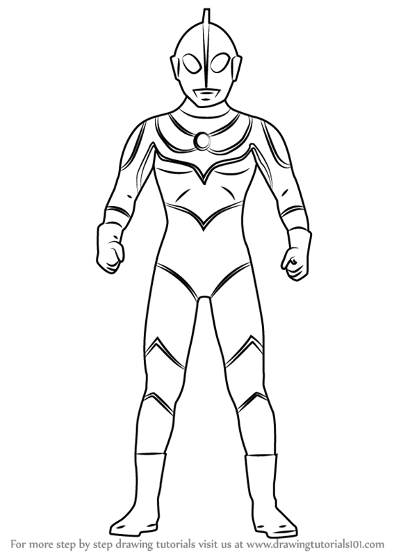 Learn How To Draw Ultraman Jack Ultraman Step By Step