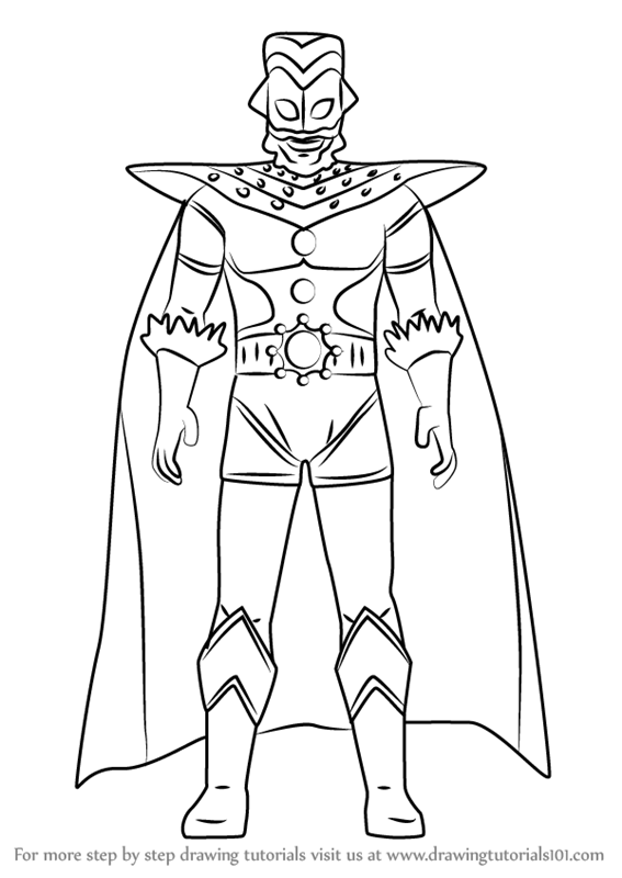 Learn How to Draw Ultraman King Ultraman Step by Step