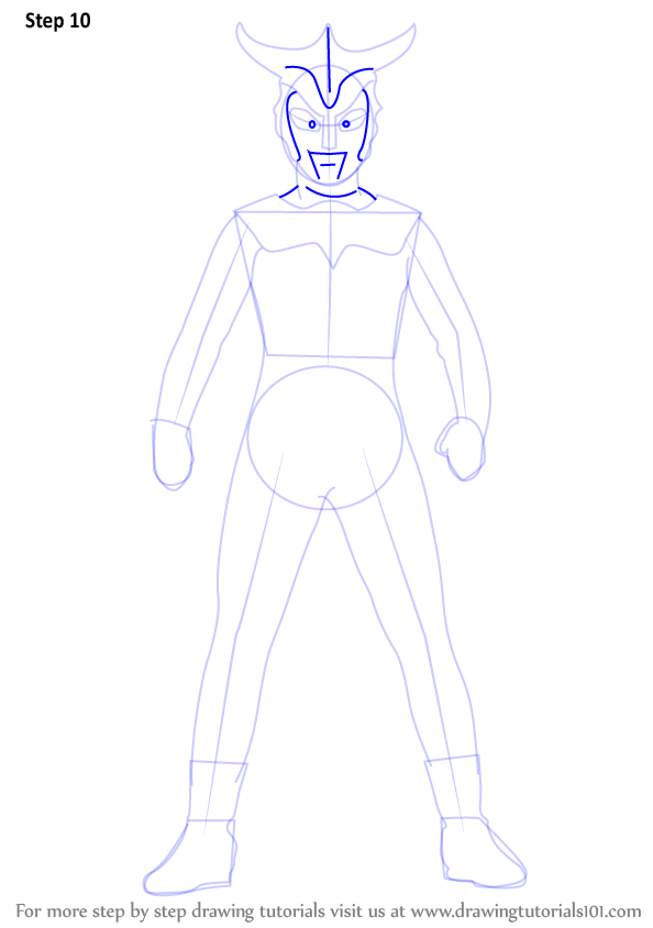 Step By Step How To Draw An Ultraman Leo