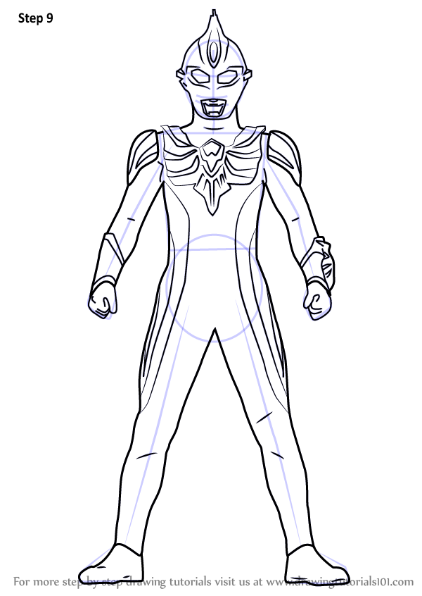 Learn How To Draw Ultraman Max Ultraman Step By Step