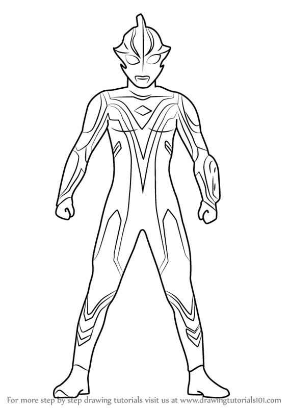 Learn How To Draw Ultraman Mebius Ultraman Step By Step Coloring Pages Ultraman