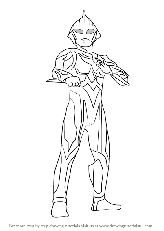 Colouring Pages How To Draw Ultraman Nexus