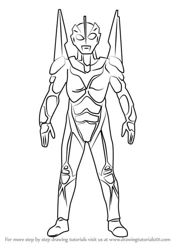Learn How To Draw Ultraman Noa Ultraman Step By Step Drawing
