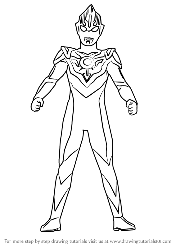 Coloring Pages Ultraman : Learn how to draw an ultraman step by