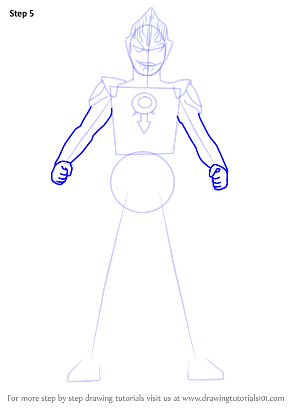 Learn How To Draw Ultraman Orb Ultraman Step By Step