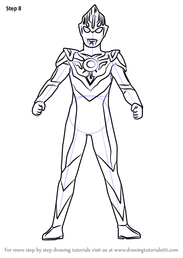 Step by Step How to Draw Ultraman Orb