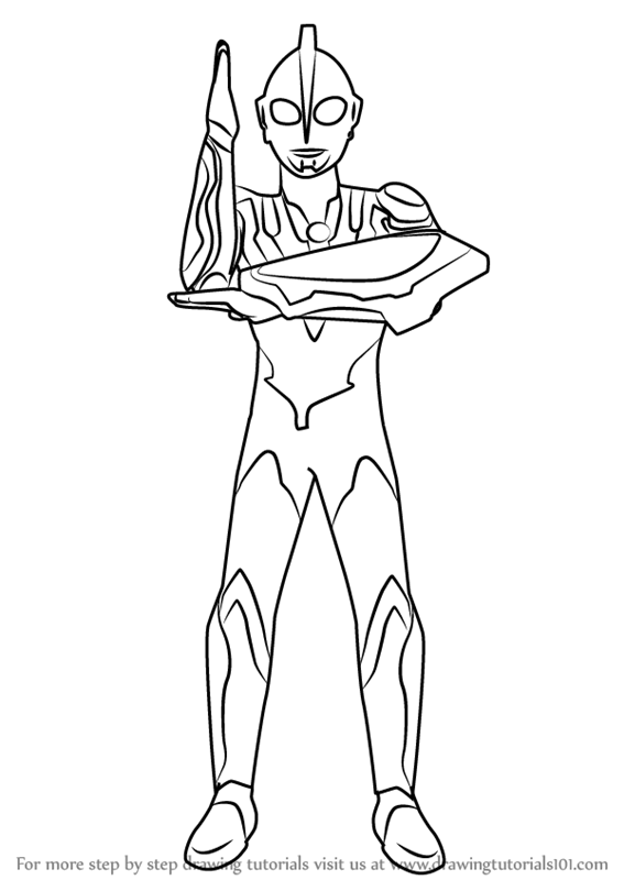 Learn How To Draw Ultraman Ribut Ultraman Step By Step Drawing