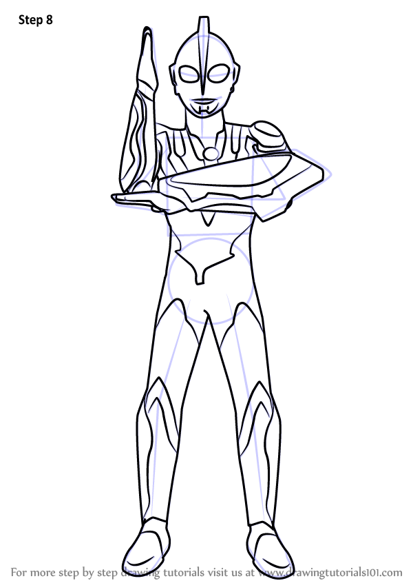 Step by Step How to Draw Ultraman Ribut