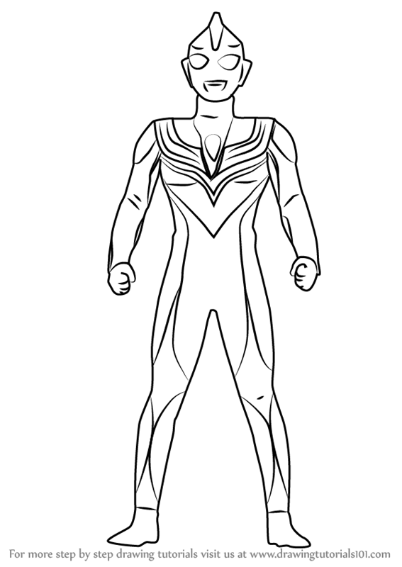 Learn How to Draw Ultraman Tiga